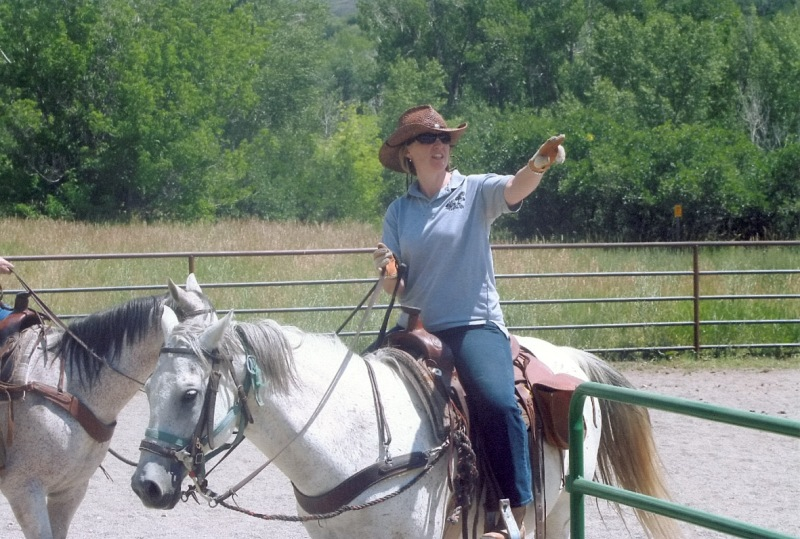My renewed love affair with ponies began at a dude ranch with Ruger, the Quarter Pony. Here we are about to cut some cows!