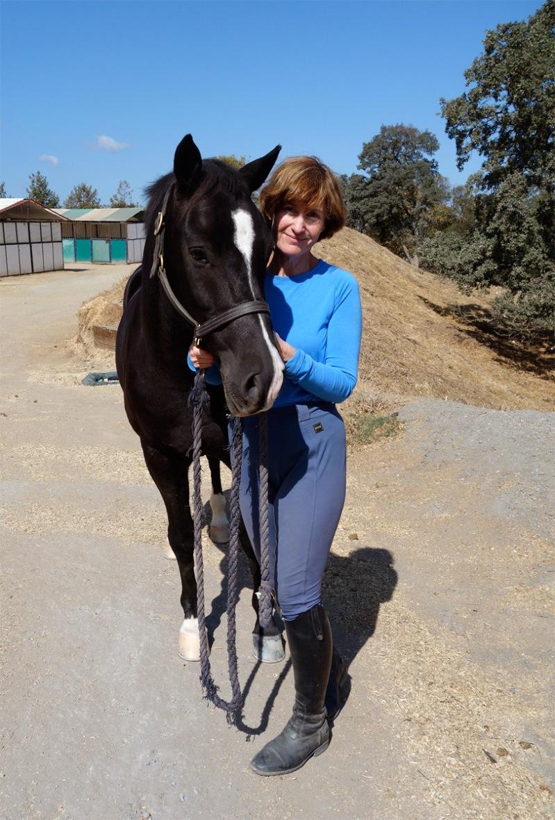Finn is trustworthy under saddle. What a good boy!