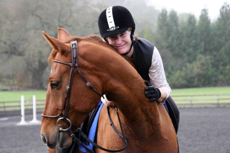 My mare, Tatiana, gives me a horse hug